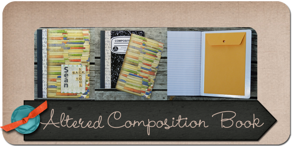 Altered Composition Book, altered notebook, tutorial, paper crafts, julie kelley, juliek