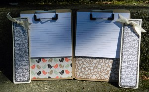 teacher gifts, altered clipboard, paper crafts, fancy pants