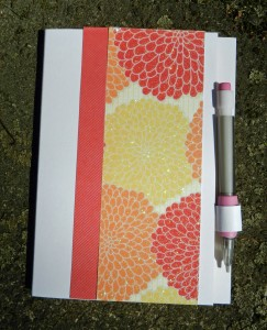 teacher gifts, paper crafts, covered notebook
