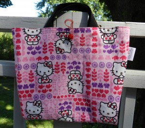 Hello Kitty, JulieK, reversible bag, sewing projects