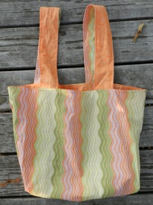 sewing, handmade, amy butler, reversible bag
