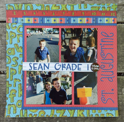Julie Kelley, Julie K, scrapbooking, paper crafts, grade 1, scrapbook layout