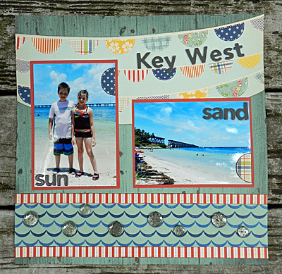 Julie Kelley, Julie K, scrapbooking, paper crafts, Key West, scrapbook layout