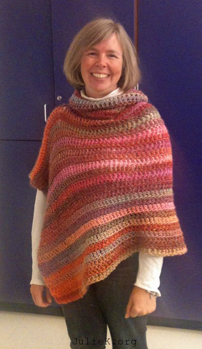 JulieK, Julie Kelley, crochet, poncho, yarn