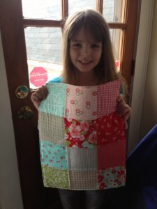 doll quilt, juliek, crafting with kids, sewing projects