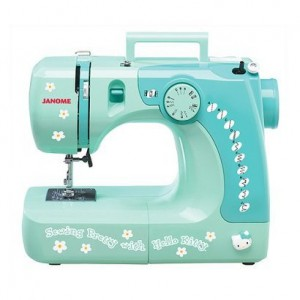 janome, hello kitty, juliek, sewing projects, new machine