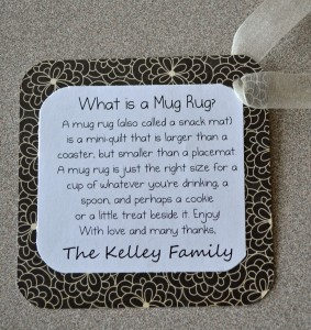 JulieK, Julie Kelley, Mug Rug, Snack Mat, Teacher Gift, end of year gift